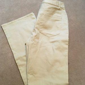 Coldwater creek tan jeans size 6